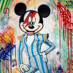 Mickey Ziggy II by Srinjoy - Mixed Media on Canvas sized 30x30 inches. Available from Whitewall Galleries